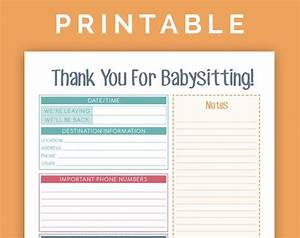 Babysitting Instructions Printable Pdf By Rainiedazze On