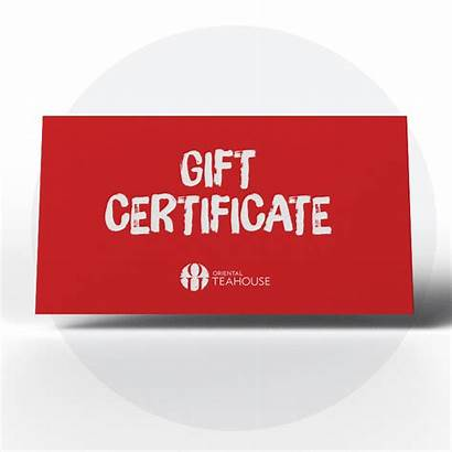 Gift Certificate Certificates Oriental