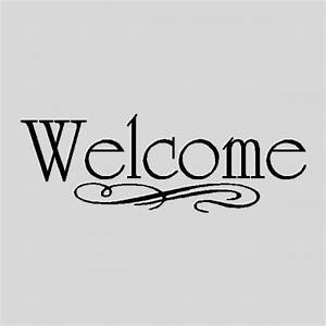 Welcome Wall Quotes Words Sayings Removable Wall