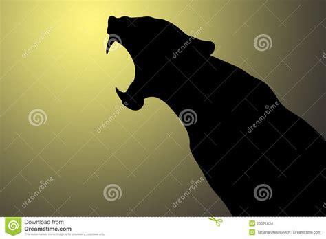 growling panther stock illustration image  wildlife