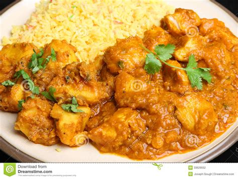 cuisine curry indian food chicken curry meal stock photo image 33629552