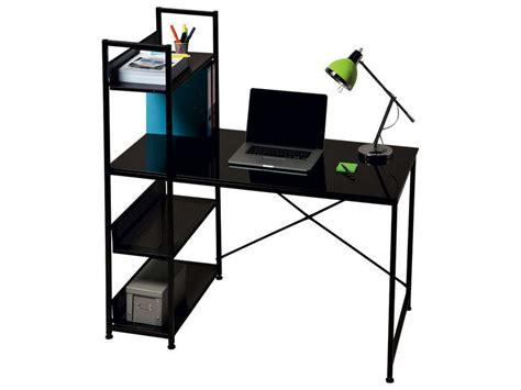 conforama bureau en verre bureau allblack vente de bureau conforama