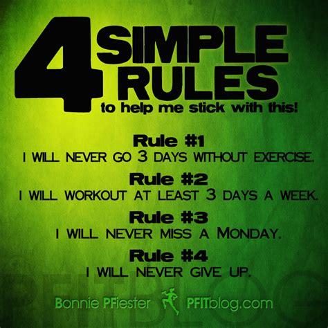 5 Simple Rules To Help Fitness Stick This Year » Pfitblog