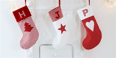 sew personalised christmas stockings  applique