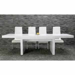 Table Blanc Laqué Extensible Ikea : table manger titanic extensible blanc laqu achat vente table manger seule table ~ Nature-et-papiers.com Idées de Décoration