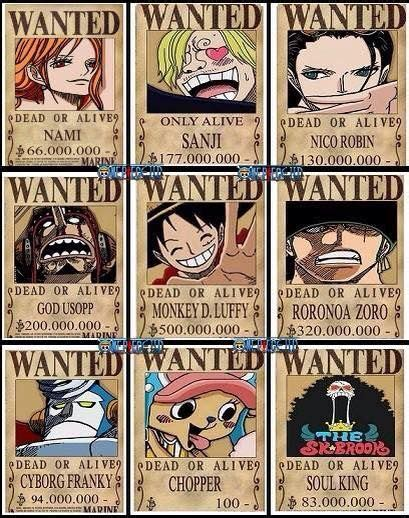 straw hat bounty posters google search wanted