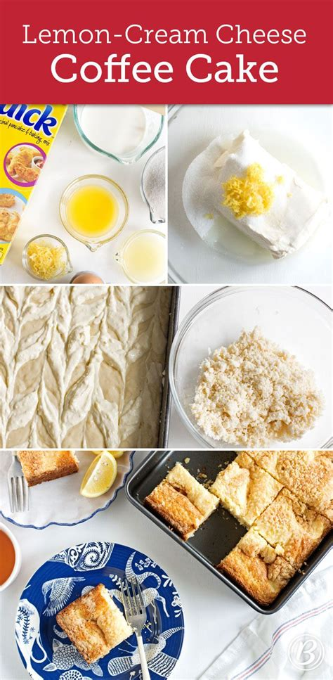 A triple layer lemon cake recipe paired with lemon cream cheese buttercream, decorated with oven dried lemon slices. Lemon-Cream Cheese Coffee Cake | Recipe | Cream cheese ...
