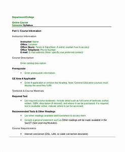 Syllabus template 7 free word documents download free for Online course syllabus template