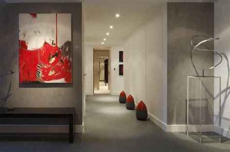 urban penthouse hallway modern hall london