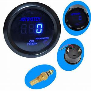Hotsystem Universal Black 2 U0026quot  52mm Digital Led Oil Temp
