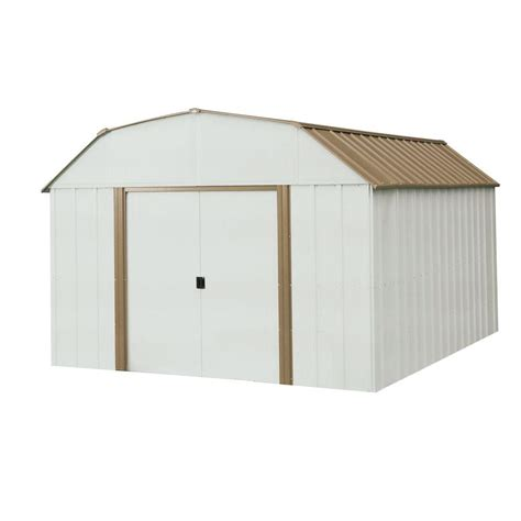 arrow metal sheds arrow dakota 10 ft x 14 ft steel shed dk1014 the home