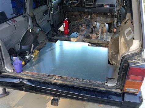 jeep xj floor rust repair board bedlining cherokee welding