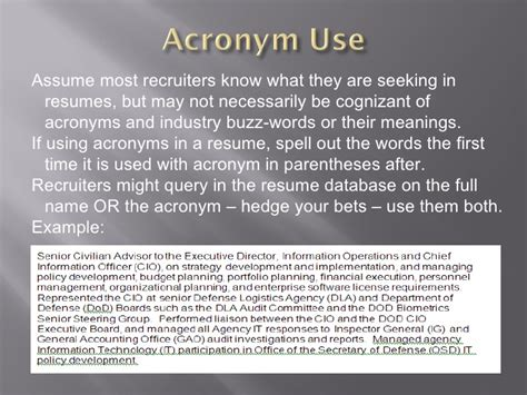 Using Acronyms In Resume by Tips To Getting Your Resume Noticed In Elec Databases