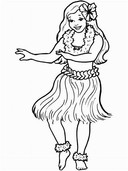 Coloring Dance Pages Hula