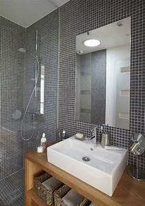 de la mosaique dans une salle de bains combien ca coute With mosaique grise salle de bain