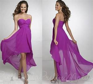 2015 high low purple bridesmaid dresses cheap chiffon With chiffon bridesmaid dresses for beach wedding