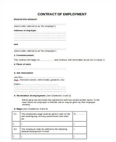 contract labor contract form sle contract labor forms 8 free documents in word pdf