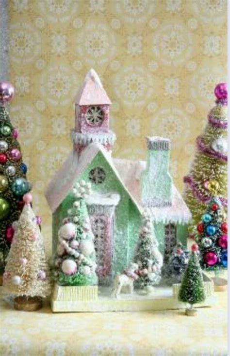 44 Best Putz Paper Houses Images On Pinterest Christmas