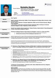 Cv Of Ramesh Nayak For Project Manager  Snr Project Manager