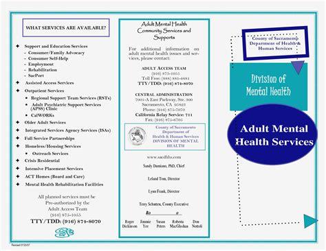 mental health brochure templates qualads