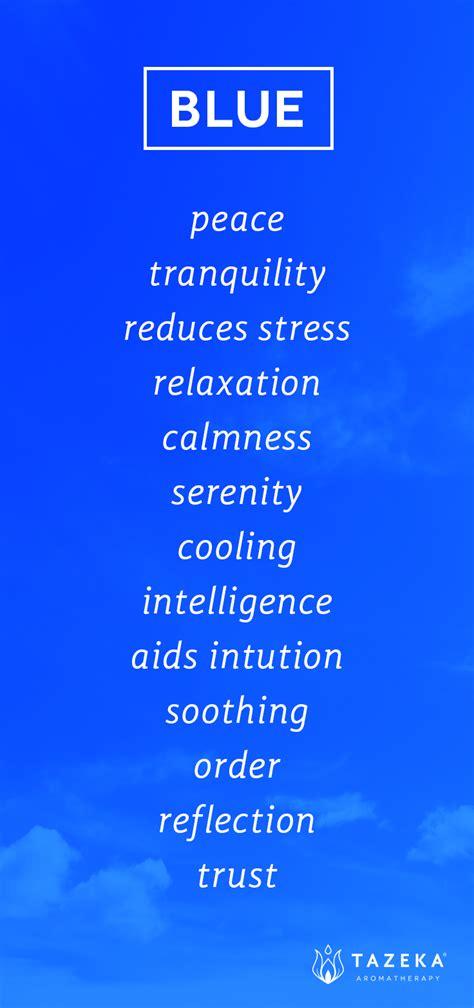pin  tazeka aromatherapy  color psychology blue