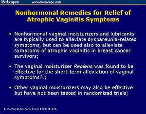 Atrophic Vaginitis and Estrogen Treatment