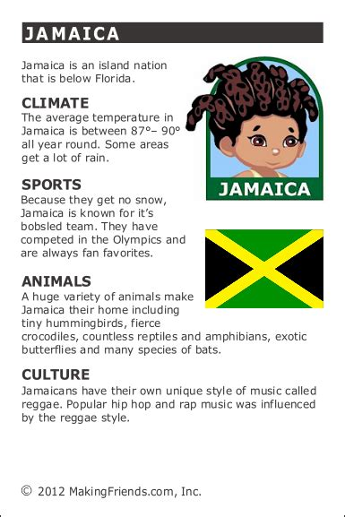 facts  jamaica jamaica facts world thinking day