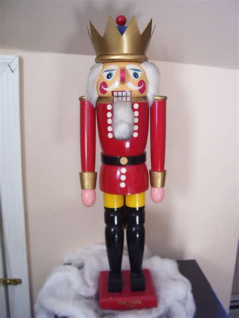 large rare christmas antique wooden nutcracker by