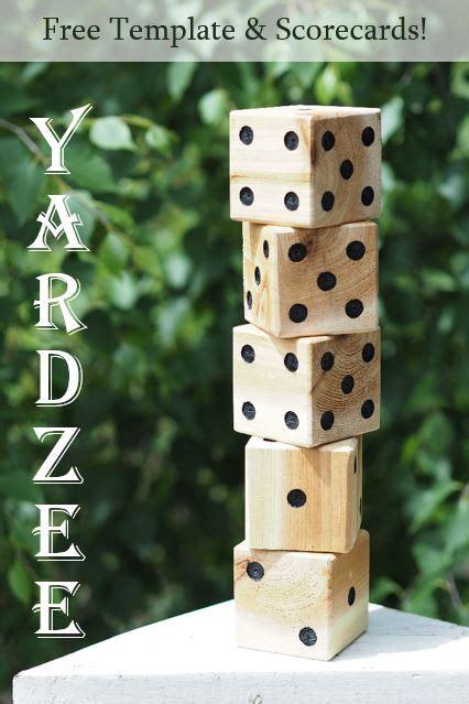 diy yardzee yard dice  template  scorecards diy