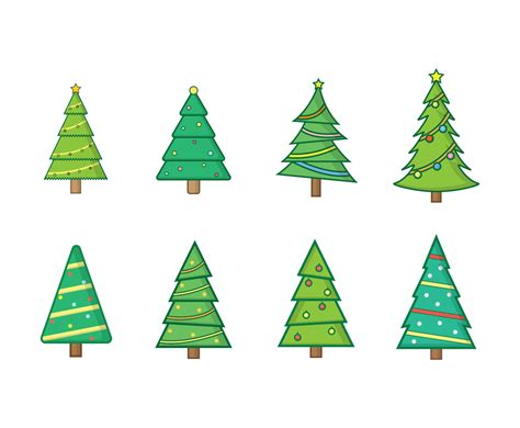 free christmas tree vectors vector art graphics