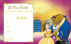 Free printable beauty and the beast royal invitation for Beauty and the beast wedding invitation template free