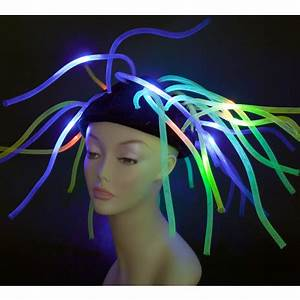 Light Up Neon Mesh Tubes Hat [ ACAJ] MardiGrasOutlet