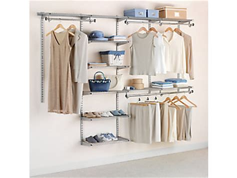 4 8 ft configurations 174 deluxe custom closet kit rubbermaid