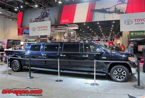 toyota shows  tundrasine limo truck concept  sema