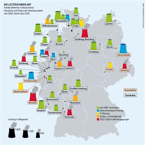 Kraftwerke Deutschland Karte