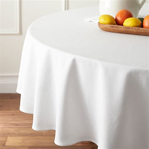 abode white   tablecloth reviews crate  barrel