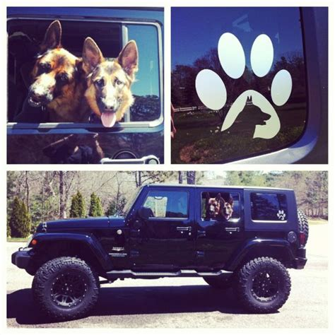 gsd jeep   german shepherd dog decal  http