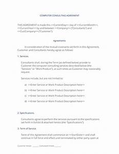 it consulting contract template - computer and hardware consulting contract 3 easy steps