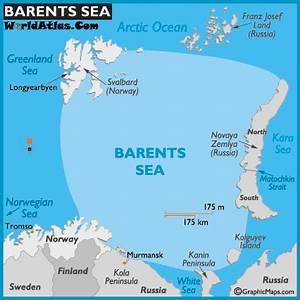 Map of Barents Sea - World Seas, Barents Sea Map Location ...
