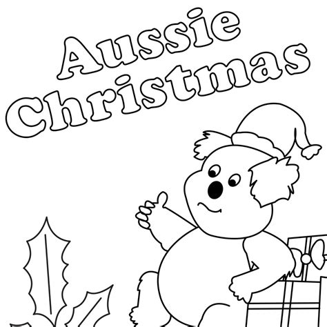 christmas in australia kangaroo coloring sheets