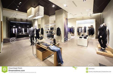 magasin de vetement de cuisine magasin moderne et de mode de vêtements photographie stock