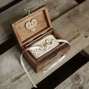 personalized wedding ring box rustic wooden ring box With personalised wedding ring box