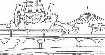 Coloring Castle Disney Pages Cinderella Walt