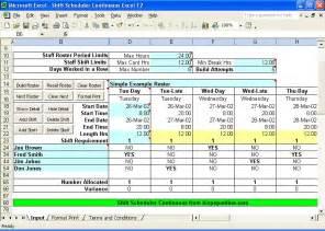 Excel Spreadsheet For Scheduling Employee Shifts by Excel Employee Shift Scheduling