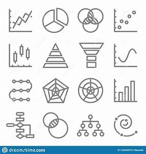 Charts And Diagrams Vector Color Line Icon Set  Contains Such Icons As Venn Diagram  Dot Plot