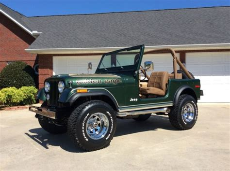 jeep eagle for sale 1977 jeep cj7 golden eagle sport utility 2 door 5 0l for