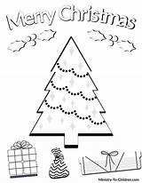 Coloring Colouring Printable Pdf Printables Tree Children Merry Worksheets Worksheet Sheets Reading Preschool Presents Sheet Adults Advent Elementary Activities Lesson sketch template