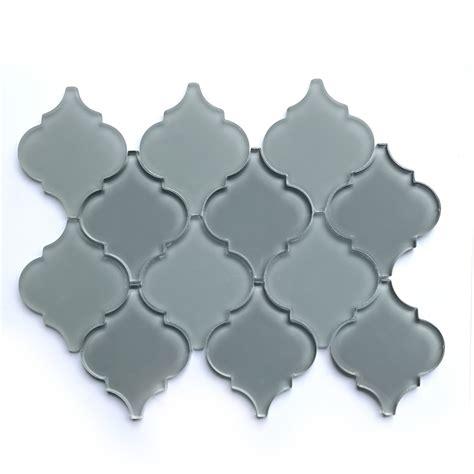 backsplash kitchen lowes buy space grey lantern glass interlocking mosaic glass 1430