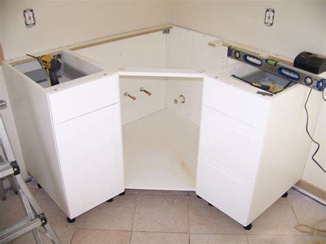 ikea sink cabinet kitchen ikea corner cabinet modification for sink remodle ideas 4593