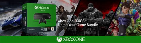 xbox name your game xbox one 500gb console name your bundle xbox one cnsl 500gb 1p bndle en fr
